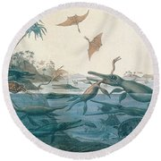 Ancient Dorset Round Beach Towel
