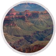 Ancient Formations North Rim Grand Canyon National Park Arizona Round Beach Towel