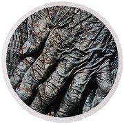 Ancient Hands Round Beach Towel by Skip Nall