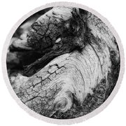 Ancient Knight's Stead Round Beach Towel by Donna Blackhall