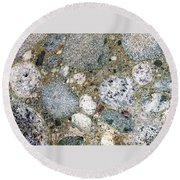 Ancient Lake Bed Round Beach Towel