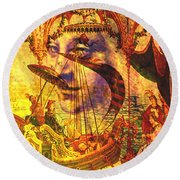 Ancient Of Days Round Beach Towel