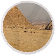 Ancient Of Times - Modern Of Times Round Beach Towel
