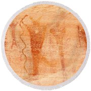 Ancient Rock Art 2 Round Beach Towel