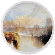 Ancient Rome - Agrippina Landing With The Ashes Of Germanicus Round Beach Towel