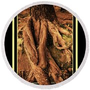 Ancient Roots Of Greece Round Beach Towel