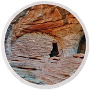 Ancient Ruins Mystery Valley Colorado Plateau Arizona 05 Round Beach Towel