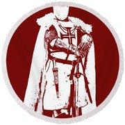 Ancient Templar Knight - 03 Round Beach Towel