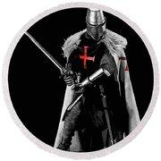 Ancient Templar Knight - 05 Round Beach Towel