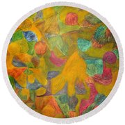 Ancient Times Round Beach Towel