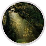 And A New Day Will Dawn... Round Beach Towel