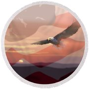 And The Eagle Flies Round Beach Towel