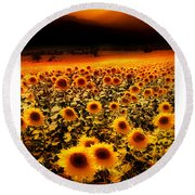 Andalucian Suns Round Beach Towel