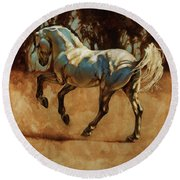 Andalusian Dance I Round Beach Towel