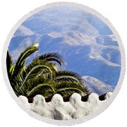 Andalusian View Round Beach Towel