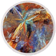 Andee Design Abstract 15 2018 Round Beach Towel
