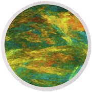 Andee Design Abstract 16 C 2018 Round Beach Towel