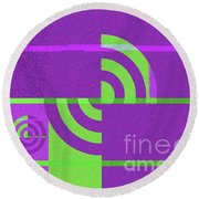Andee Design Abstract 4 Of The 2016 Collection Round Beach Towel