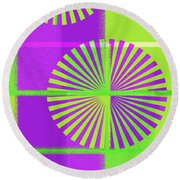 Andee Design Abstract 5 Of The 2016 Collection  Round Beach Towel by Andee Design