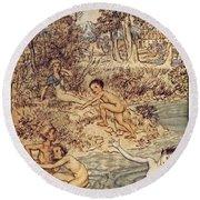 Andersen: Little Mermaid Round Beach Towel