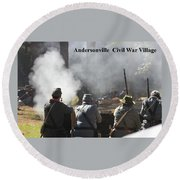 Andersonville Civil War Village Round Beach Towel