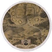 Andersonville Prison Round Beach Towel