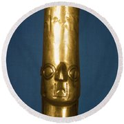 Andes: Gold Effigy, 1400 Round Beach Towel
