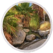 Andreas Canyon Babble Round Beach Towel