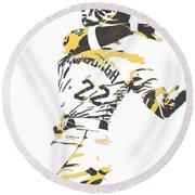 Andrew Mccutchen Pittsburgh Pirates Pixel Art 1 Round Beach Towel