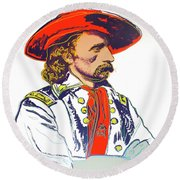 Andy Warhol, General Custer, Cowboys And Indians Series Round Beach Towel