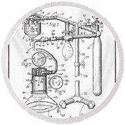 Anesthetic Machine Patent 1919  Round Beach Towel