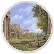 Anfiteatro Romano Round Beach Towel by Guido Borelli