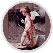 Angel - The Angel Of Love Round Beach Towel