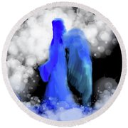 Angel #621 Round Beach Towel