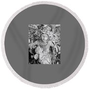 Angel And Child Round Beach Towel