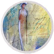 Angel Dust  Round Beach Towel