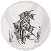 Angel Fish Round Beach Towel