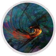 Angel From The Deep Round Beach Towel