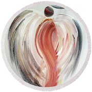 Angel Grace Round Beach Towel