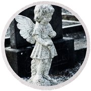 Angel In Roscommon No 3 Round Beach Towel