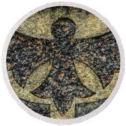 Angel In Stone Round Beach Towel