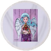 Angel Round Beach Towel