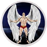 Angel Love 2  Round Beach Towel