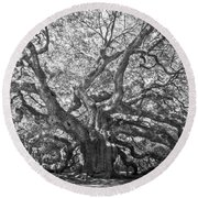 Angel Oak II Round Beach Towel