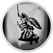 Angel Of Gettysburg Round Beach Towel