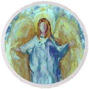 Angel Of Harmony Round Beach Towel