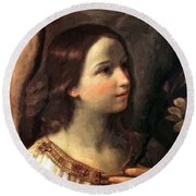 Angel Of The Annunciation Round Beach Towel