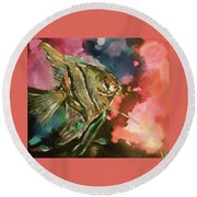 Angel Of The Sea Round Beach Towel