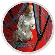 Angel Of The Seas Round Beach Towel