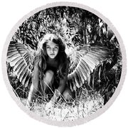Angel Of The Wild Round Beach Towel